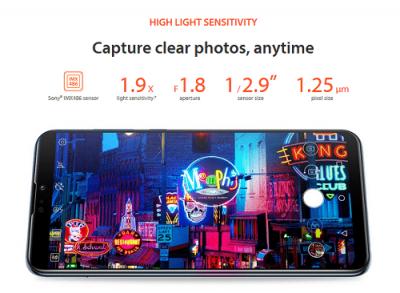 Sensitivity Kamera Asus Zenfone max pro m2