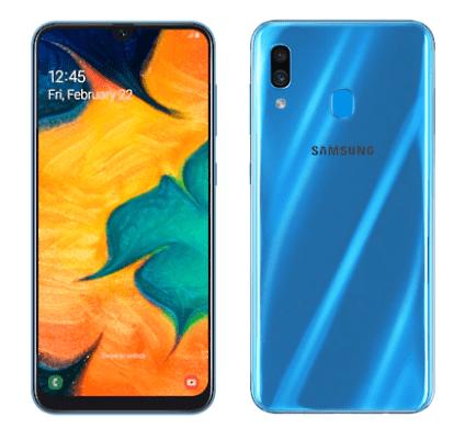 Warna Samsung Galaxy A30