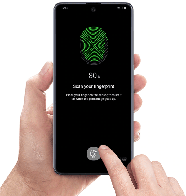 Fingerprint Samsung A71
