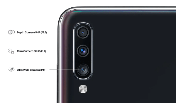 Kamera Samsung A70