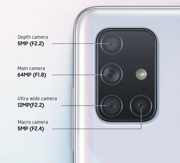 Kamera Samsung A71